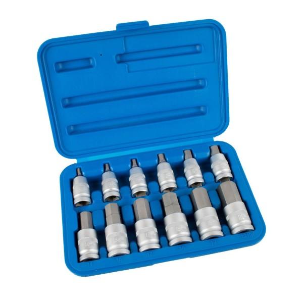 Steckschlüssel-Einsätze Innensechskant 5 - 22 mm, 12-tlg.